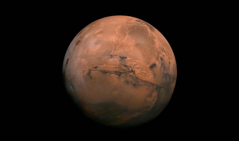 systém kaňonov Valles Marineris na Marse