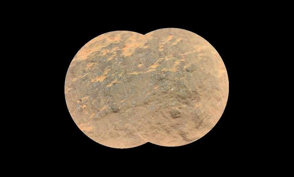 Záber na marťanskú skalu